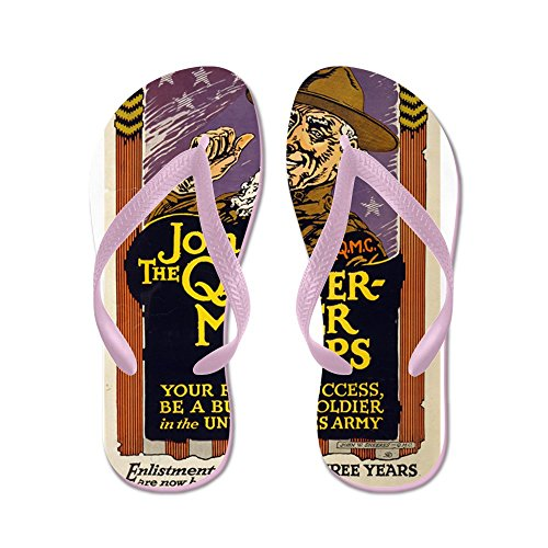 CafePress Keep The Stars Shining For Uncle Sam - John W Shee - Flip Flops, Funny Thong Sandals, Beach Sandals Pink