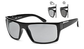 Gafas de sol Wayfarer Fotocromática clásico S-208F lente Cat, 3 vasos 1 negro de conducción