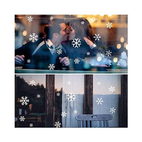 216 Vetrofanie Fiocchi di Neve per Natale, Fiocco di Neve Stickers da Vetro Finestra Vetrina Natale Decorazione - Fantastiche Adesivi Statici in PVC 3 spesavip