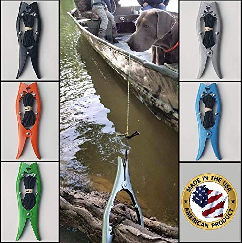 Brush Gripper The Harder You Pull The Harder IT Grips! Anchor Your Kayak, Canoe or Boats up to 22 feet. Float Tubes, Fishing, Hunting, Ground Blinds, Camping & More (Orange)