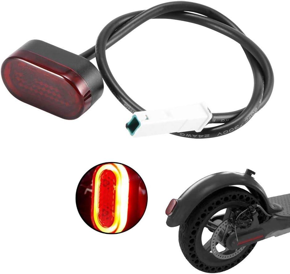 HITECHLIFE Scooter Eléctrico Luz Trasera Luz de Freno y Luz de Seguridad Negro para Xiaomi M365