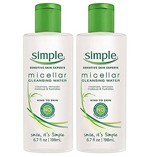 Simple Micellar Cleansing Water, 6.7 Ounce (2 Pack) by Simple