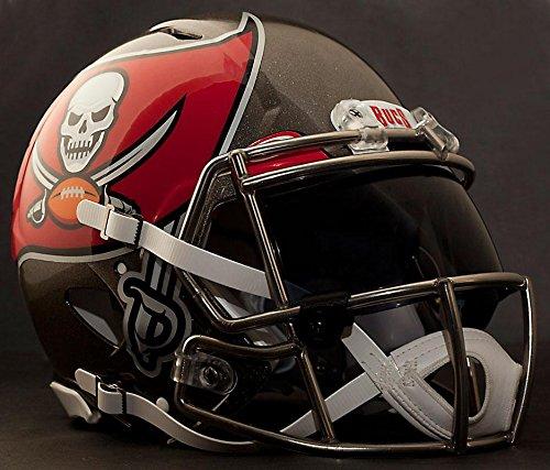 Riddell Speed Tampa Bay Buccaneers NFL Replica Football Helmet with Dark-Tint Eye Shield/Visor (Football Replica Helmet Buccaneers Tampa Bay)