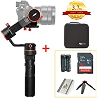 Feiyu Tech a1000 (Upgraded Version, 3.7lbs Capacity) Professional Gimbal Handheld Stabilizer for DSLR Cameras, Action Cameras, and Smart Phones | Free Accessories Bundle