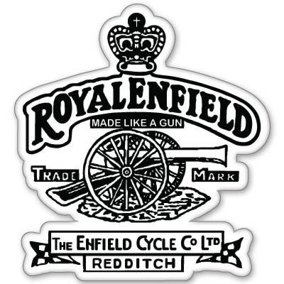 Royal enfield like a gun motorcycle vynil car sticker 4