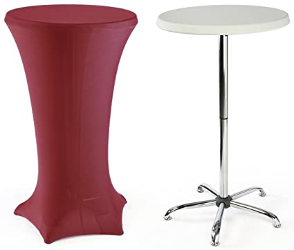 Genial High Top Cocktail Tables Are Portable, Include A 47u0026quot; Tall Table And A