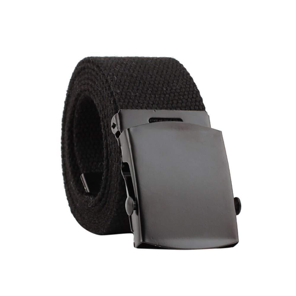 yoyorule Belts Men Women Automatic Fashion Nylon Belt Buckle Fans Canvas Belt by yoyorule-Fashion Belts (Image #1)