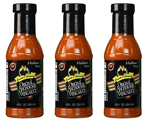 Anchor Bar Sauce Wing Original 12 oz (Pack of 3) (Anchor Bar Buffalo Chicken Wing)