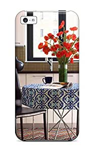 Durable Defender Case For Iphone 5c Tpu Cover(menswear-inspired Tweed In Modern Living Room)