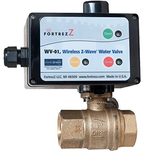 """FortrezZ Z-Wave Water Shut Off Valve 1.25"""""""