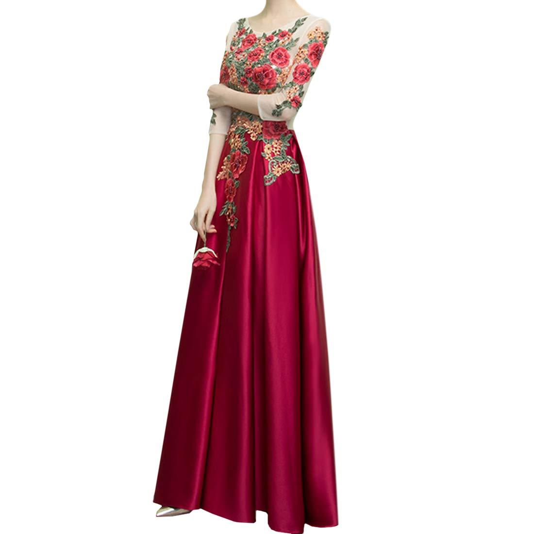 Souliyan Women's LongSleeved Slim Long Slimming Long Dress (Size   XXL)
