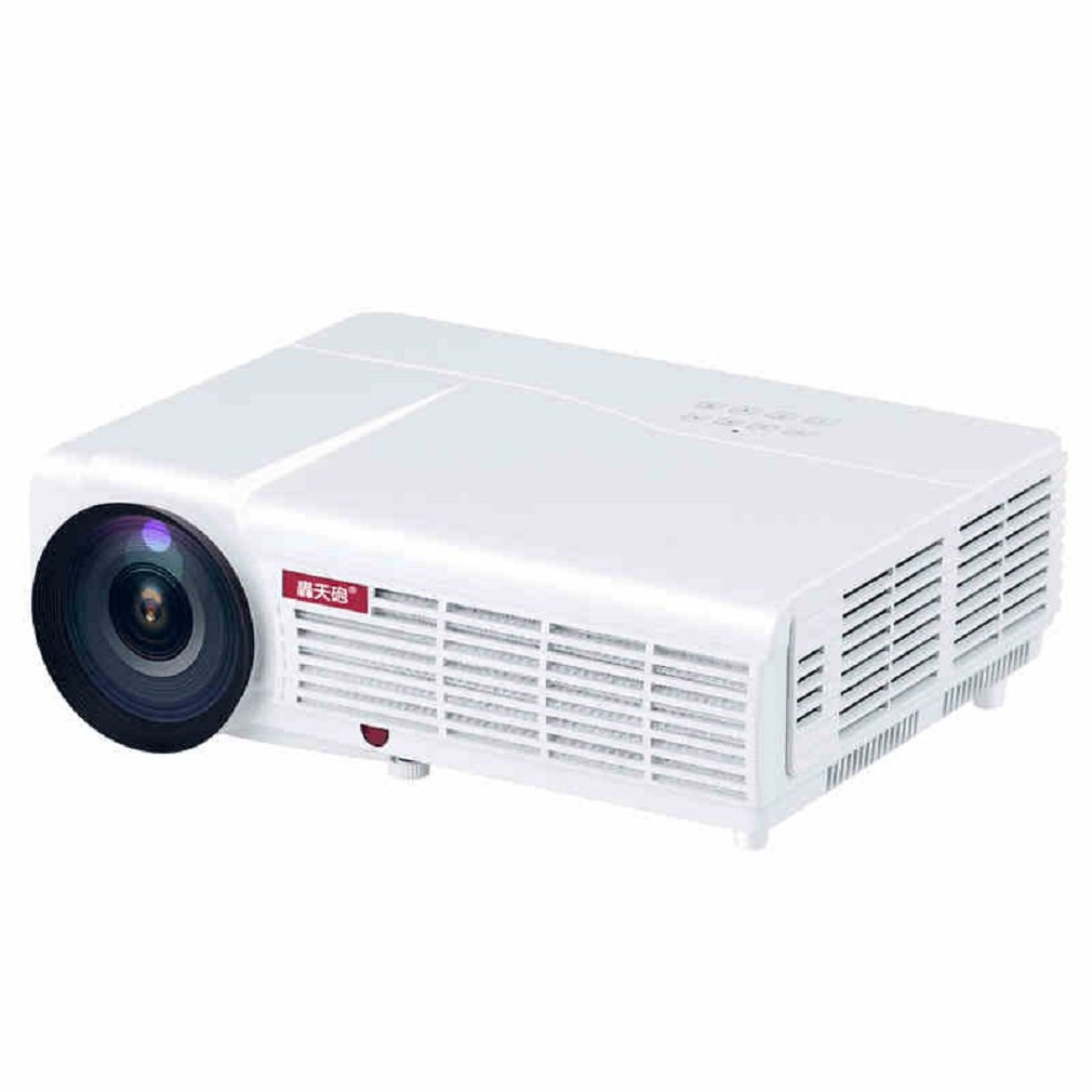 Morjava LED96 Media Portable HDMI USB LED Multimedia HD 2800 lumen Projector Support 1080P Native Resolution:1280768 Contrast Ratio 2000: 1 Support Red_blue 3D -White