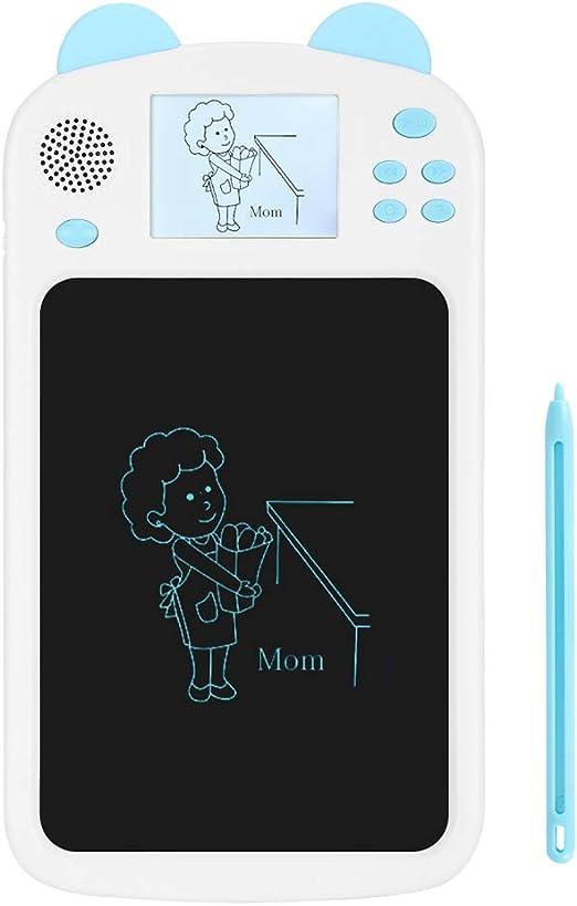 青色光のない環境にやさしい塗装目にダメージを与えないタブレットを書く、疲れない精密研磨電子製図用黒板、子供向け(blue)