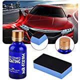 Mercu 9H HARDNESS AUTO CERAMICS COAT KIT, Nano Car Liquid Ceramic Coating kit Super Hydrophobic Glass Coating Polish-30ML (3 pieces)