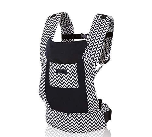 OPYUT Baby Shoulder Strap Front Shoulder Type Waist Waist Stool Four Seasons Versatile Multifunctional Newborn Baby Portable Baby Belt(Striped Black)