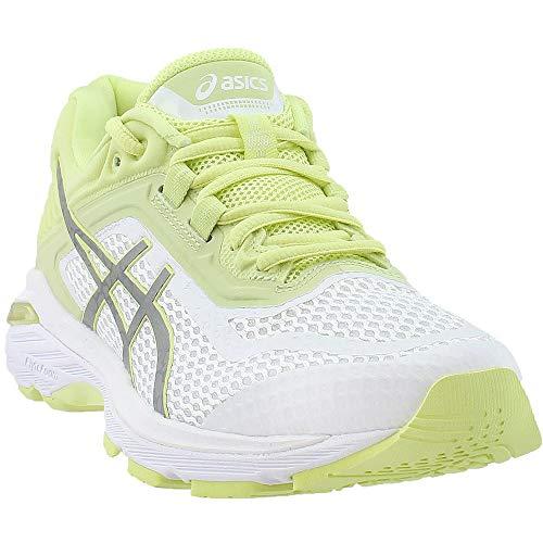 ASICS Womens GT-2000 6 Lite-Show Sneaker, White/Silver/Limelight, Size 7.5