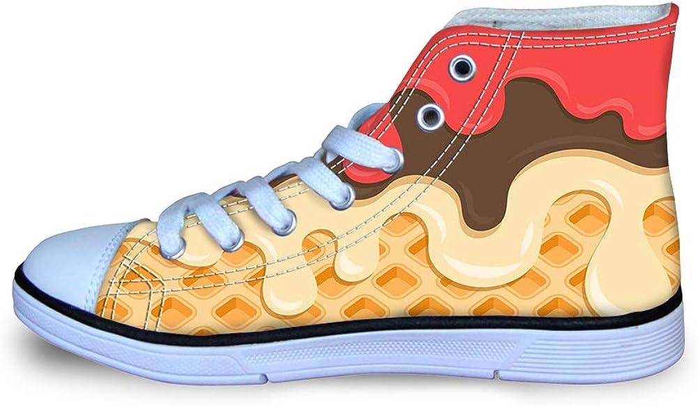 Canvas High Top Sneaker Casual Skate Shoe Boys Girls Blueberry Honey Waffle Lattice