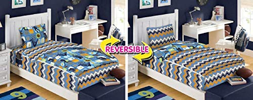 Zipit Bedding Set, Extreme Sports, Glow-in-The-Dark, Reversible – Twin – Set of Two (2)