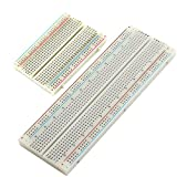 Experiment Solderless Breadboard with Adhesive Tape, 1pc 400-Points and 1pc 830-Points