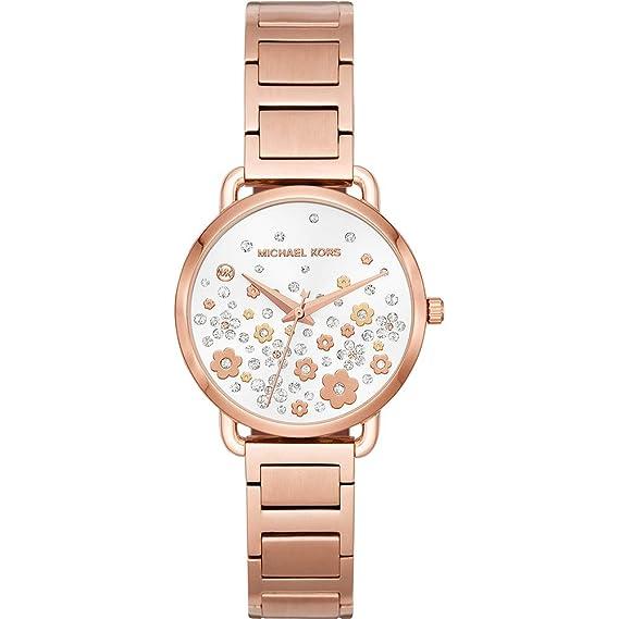 Michael Kors Reloj Analogico para Mujer de Cuarzo con Correa en Acero Inoxidable MK3841: Amazon.es: Relojes