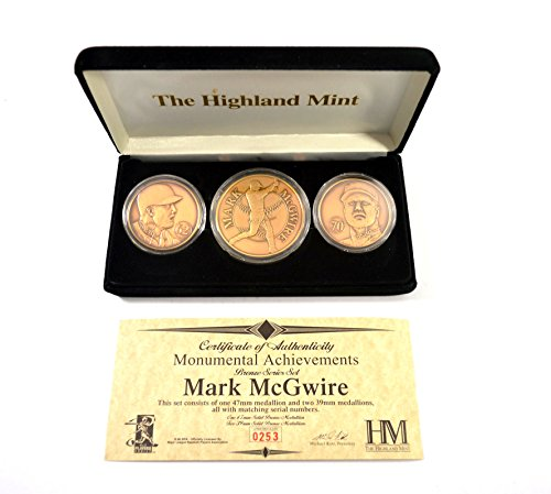 Highland Mint Mark McGwire Monumental Achievement Bronze Coin Set # out of (Highland Bronze Coin Set)