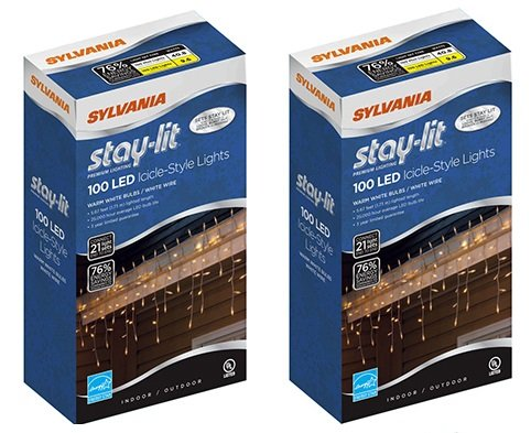 Sylvania 100 Led Icicle Lights in US - 1