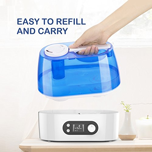 Victsing Cool Mist Humidifier 3l Ultrasonic Humidifier Super Quiet Humidifier For Home Bedroom