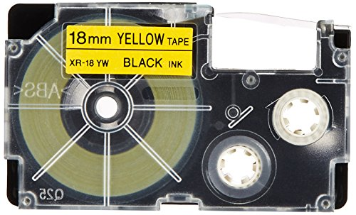 5 pieces CASIO Casio name land tape 18mm XR-18YW-5P-E (japan import)