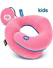 BCOZZY Kinder Nacken und Kinn stützendes Reisekissen - unterstützt den Kopf, Hals und das Kinn. Ein Patentiertes Produkt. Kindergröße, ROSA