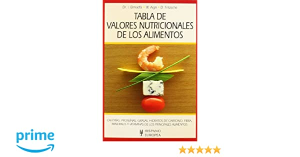 Tabla de valores nutricionales de los alimentos Tablas de alimentos: Amazon.es: Ibrahim Elmadfa, Waltraute Aign, Doris Fritzsche: Libros
