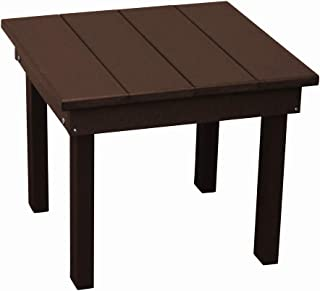 product image for Outdoor Hampton End Table - Tudor Brown Poly Lumber - Recycled Plastic