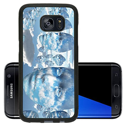 Abstract Concept Halloween Costume (Liili Premium Samsung Galaxy S7 Edge Aluminum Backplate Bumper Snap Case Repeating faces of clouds IMAGE ID 11799933)