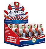 Freedom Extra Strength Natural Energy Shot- Sugar Free- All Natural- Low Caffeine from Green Tea -No Carbs- No Jitters- Berry Flavor- 12 pack - 2oz shots