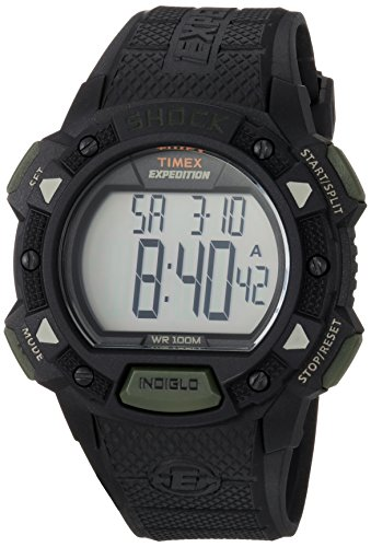 Timex Men's TW4B12600 Expedition Base Shock Black/Gray Resin Strap Watch -