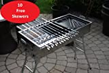 (US) Stainless Steel Charcoal Grill Kebab BBQ Portable Mangal
