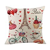 Cyhulu Kawaii 18x18 Inch Quote Throw Creative Cartoon Heart Print Square Pillow Case Cushion Cover Lover Gifts for Happy Valentine's Day Home Bed Sofa Living Room DIY Decoration (D, One size)