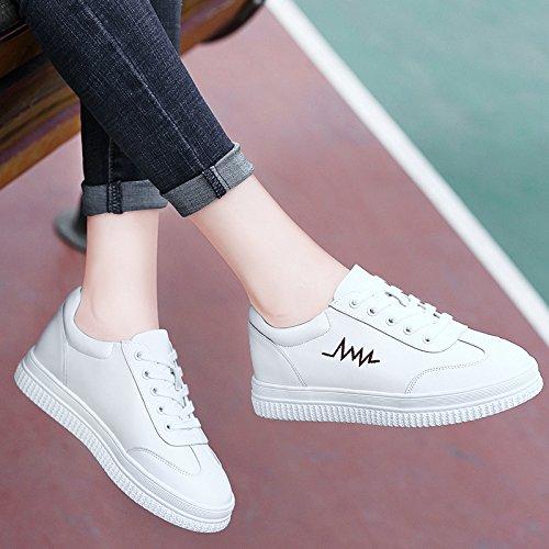 NGRDX La amp;G Calzan Plataforma Casuales Blancos White Los De Mujeres De Estudiantes Zapatos A De Los Zapatos Las ppqrwR