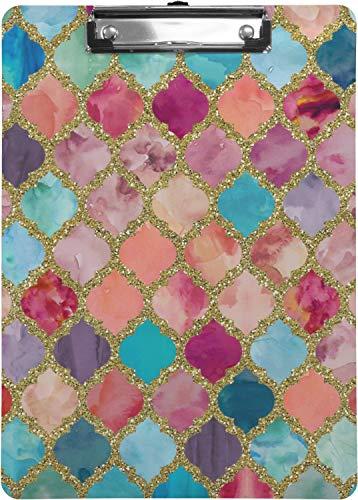 Glitter Moroccan Watercolor Clipboard (Letter Size) -