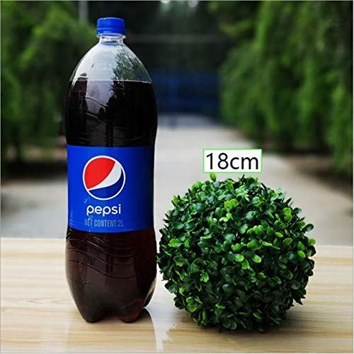 - Decorations New 50cm Artificial Green Milan Grass Ball Plastic Plant Opening of The mall Huckus Ornament Wedding Party Decoration Supplies - (Color: 18cm)