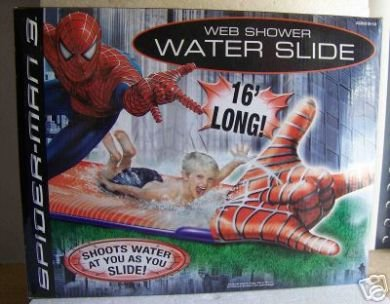(Spiderman 3 Web Shooter Web Slide 16' long SHOOTSWATER AT YOU AS YOU SLIDE)