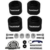 "Supreme Suspensions - Wrangler Lift Kit 2"" Front Suspension Lift + 2"" Rear Suspension Lift Kit CNC Machined High-Crystalline Delrin + Transfer Case Drop Kit Jeep Wrangler TJ Leveling Kit (Black) PRO"