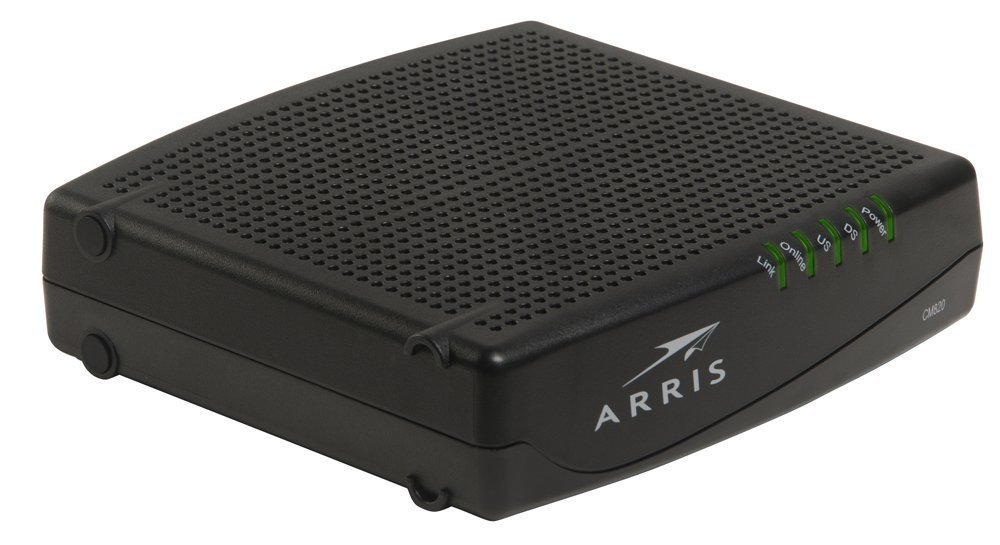 ARRIS CM820A Cable Modem DOCSIS 3.0 (Latest Version - 1 Step Activation) (Certified Refurbished)