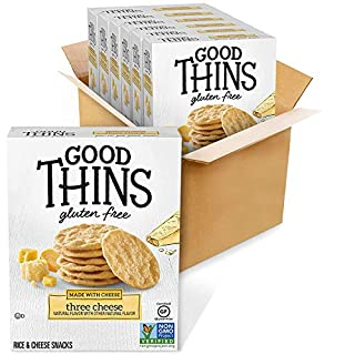 Good Thins Three Cheese Rice & Cheese Snacks Gluten Free Crackers, 6 - 3.5 oz Boxes