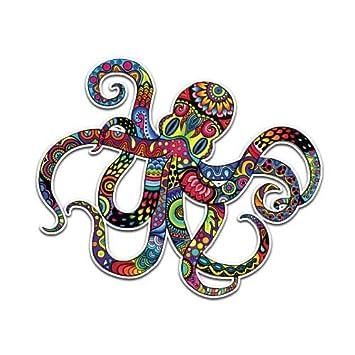 Octopus sticker colorful ocean squid decal by megan j designs laptop sticker tumbler decal vinyl