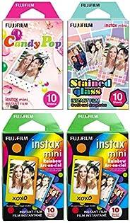 Fujifilm Instax Mini Film, Specialty Pack x 4, Multicolor (40 Exposures)