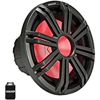 Kicker KM124 12 Marine Subwoofer with LED Charcoal Grill 4 Ohm for Sealed Applications
