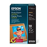 Epson S042038 Photo Paper Glossy, 4x6 Size, (100 Sheets) Ink