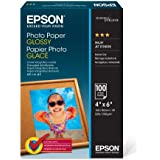 "Epson Photo Paper Glossy - Borderless - S042038, 4"" x 6"" (100 sheets)"