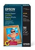 Epson Photo Paper Glossy - Borderless - S042038, 4' x 6' (100 sheets)
