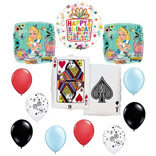 Alice In the Wonderland Birthday Tea Party Queen Card Balloon Kit